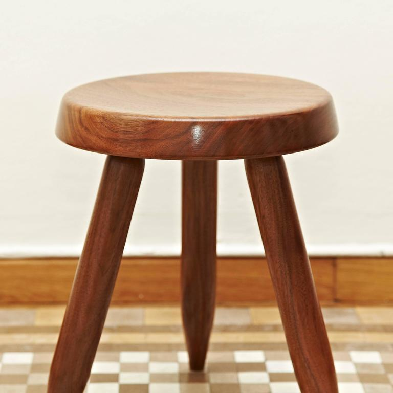Mid-Century Modern Stool after Charlotte Perriand For Sale