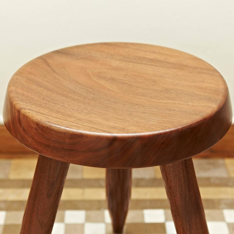 Stool after Charlotte Perriand In Good Condition For Sale In Barcelona, Barcelona