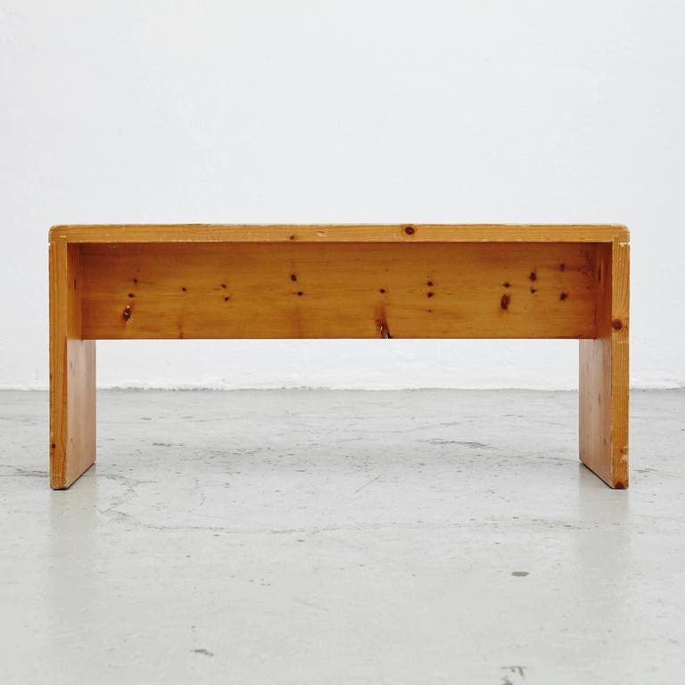 charlotte perriand bench for les arcs at 1stdibs. Black Bedroom Furniture Sets. Home Design Ideas