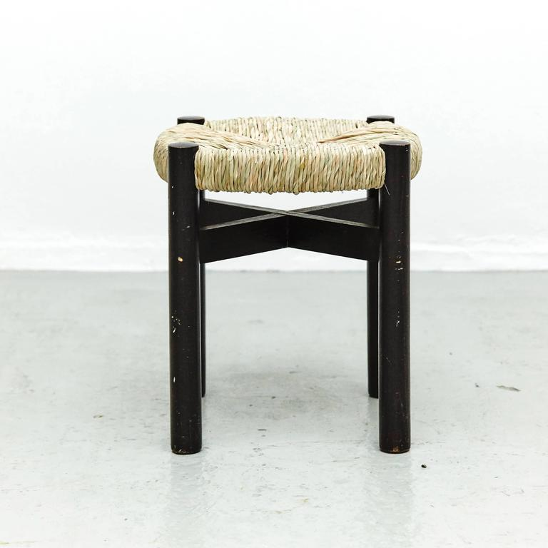 Stool By Charlotte Perriand For Meribel Circa 1950 For Sale At 1stdibs