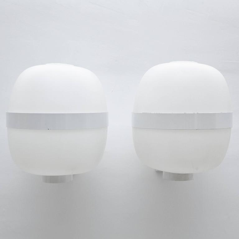 Mid-Century Modern Pair of Big Miguel Mila Wally Aplique Lamp, circa 1962 For Sale