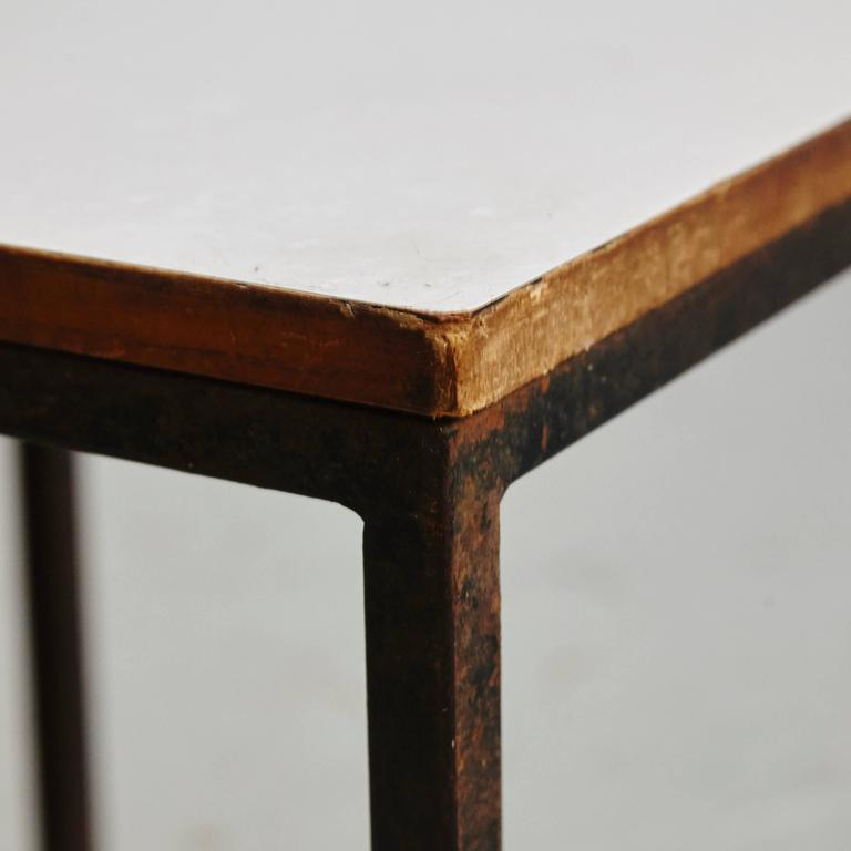 Pair of Florence Knoll T-Angle Side Tables, circa 1950 2