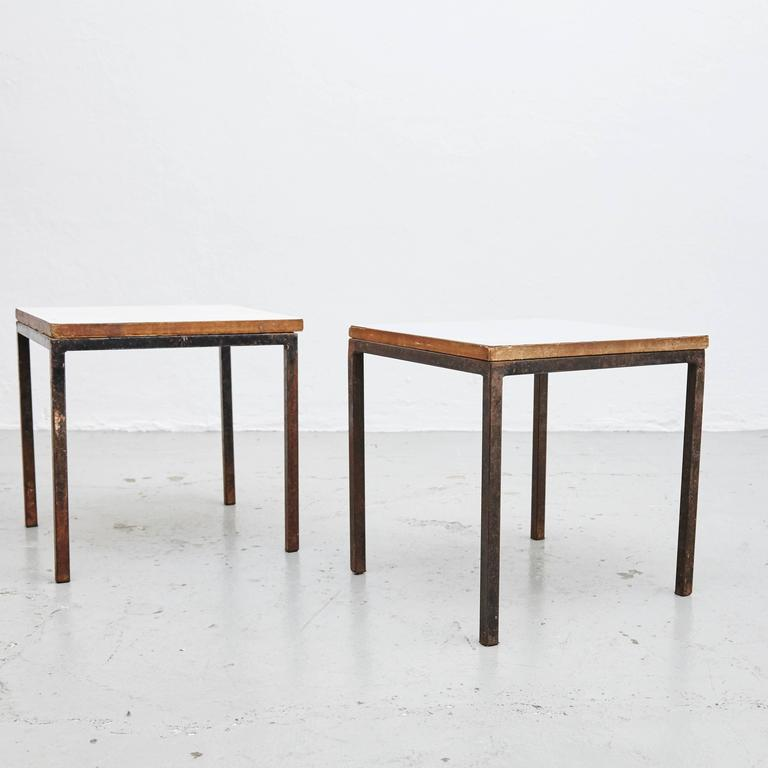 Pair of Florence Knoll T-Angle Side Tables, circa 1950 6