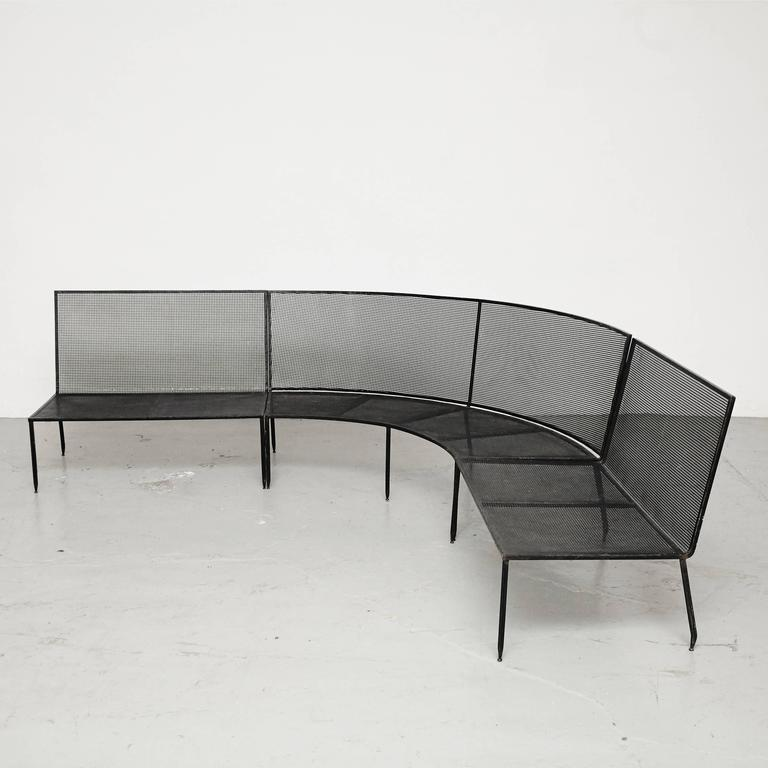 Mid-Century Modern Set of Mathieu Mategot Sofa and Coffee Table, circa 1950 For Sale
