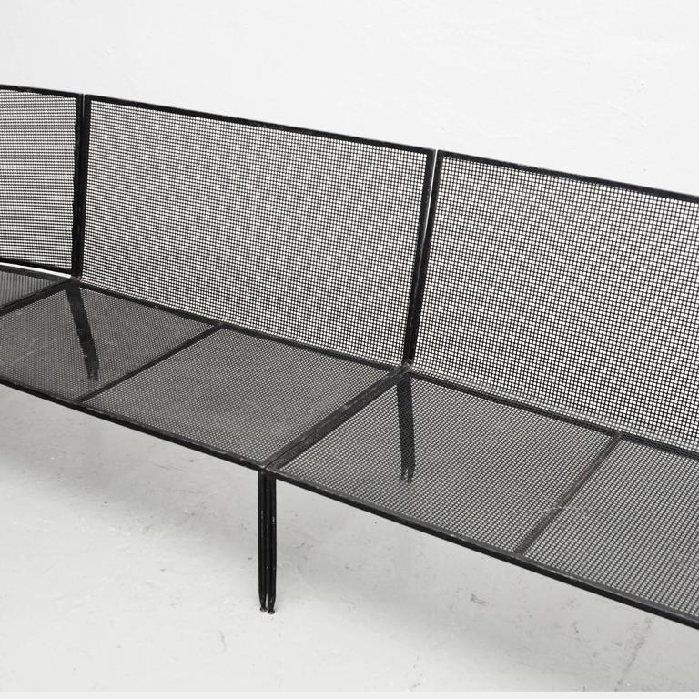 French Set of Mathieu Mategot Sofa and Coffee Table, circa 1950 For Sale