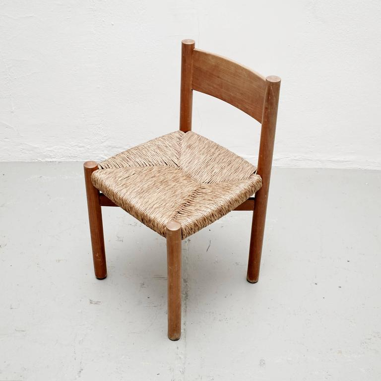 Mid-Century Modern Charlotte Perriand Chair for Meribel, circa 1950