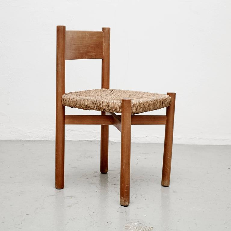 French Charlotte Perriand Chair for Meribel, circa 1950