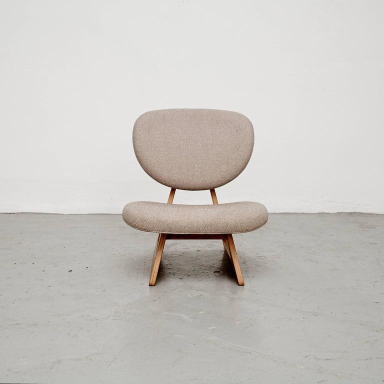 Mid-Century Modern Junzo Sakakura Lounge Chair, circa 1950 For Sale