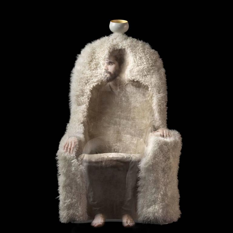 Salvador Dali Armchair Invisible Personage For Sale 2