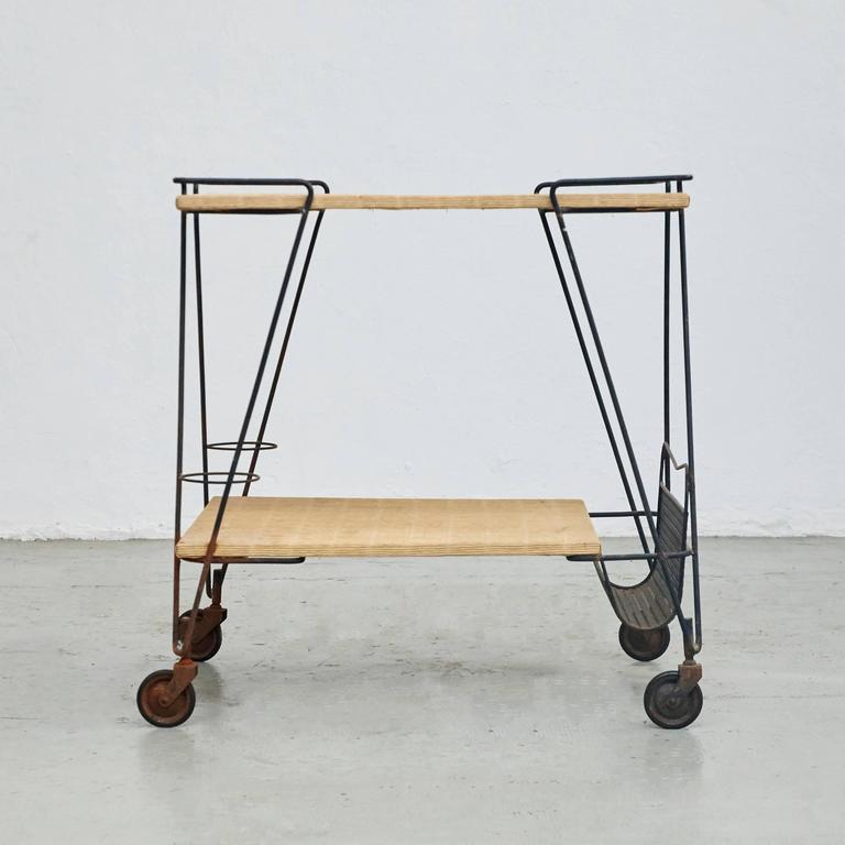 Trolley designed by Mathieu Matégot.