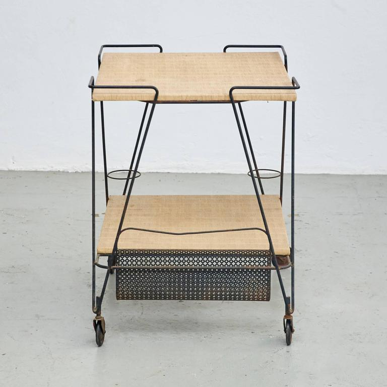Mid-Century Modern Mathieu Mategot Trolley, circa 1950 For Sale