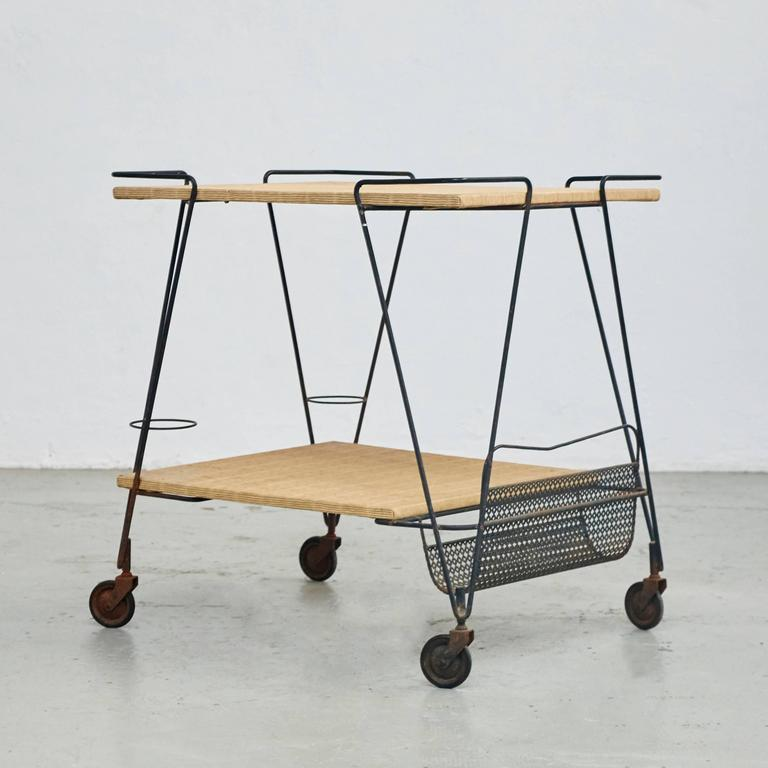 French Mathieu Mategot Trolley, circa 1950 For Sale