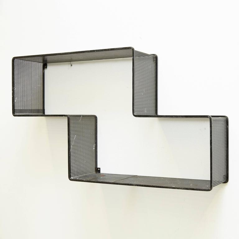 Mid-Century Modern Mathieiu Mategot Dedal Wall Shelf For Sale