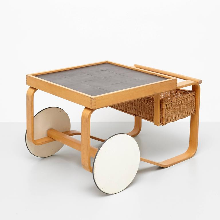 Tea trolley model 900, designed by Alvar Aalto for Artek, Finland, 1935. 
