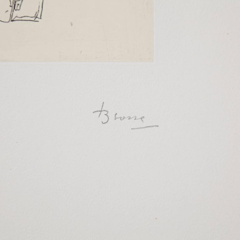 Spanish Joan Brossa Etching For Sale