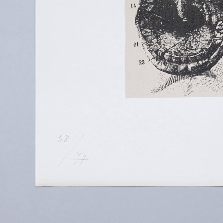 Spanish Joan Brossa Lithograph Visual Poem For Sale