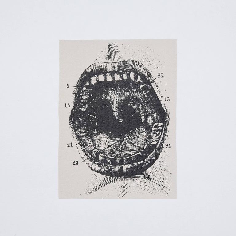 Visual poem made by Joan Brossa, circa 1989.   Graphic print.   Lithograph on Guarro paper. Limited edition (77). Signed and numbered. Year: 1989   Measure: Width 38 cm (15 in) x height 50 cm (20 in)   Joan Brossa - Barcelona, Spain