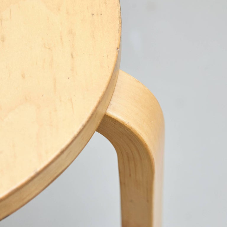 Alvar Aalto Stool, circa 1960 In Good Condition For Sale In Barcelona, Barcelona