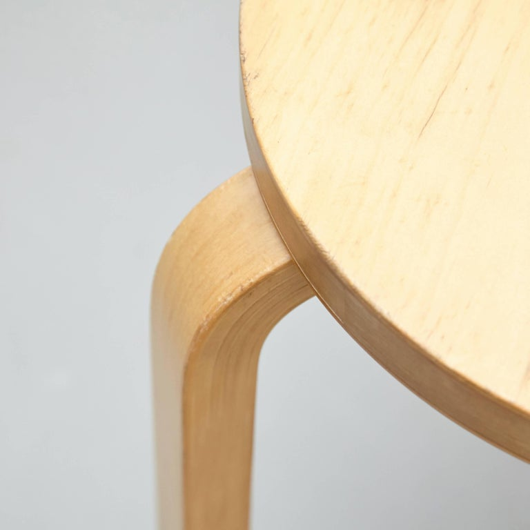 Finnish Alvar Aalto Stool, circa 1960 For Sale