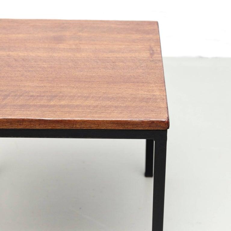 Metal Florence Knoll T-Angle Side Table, circa 1950 For Sale