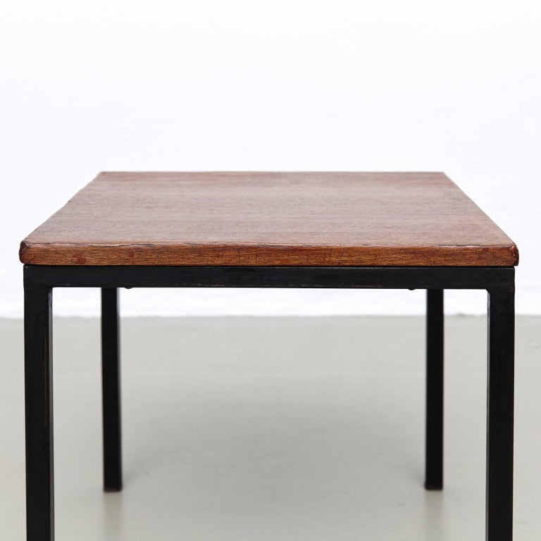 Mid-Century Modern Florence Knoll T-Angle Side Table, circa 1950 For Sale