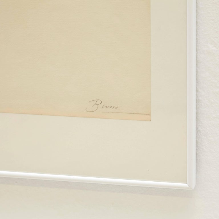 Joan Brossa Lithograph Visual Poem In Good Condition For Sale In Barcelona, Barcelona