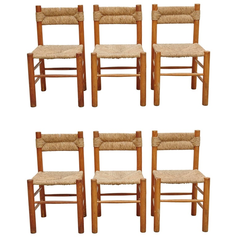 Set of Six Chairs after Charlotte Perriand, circa 1950