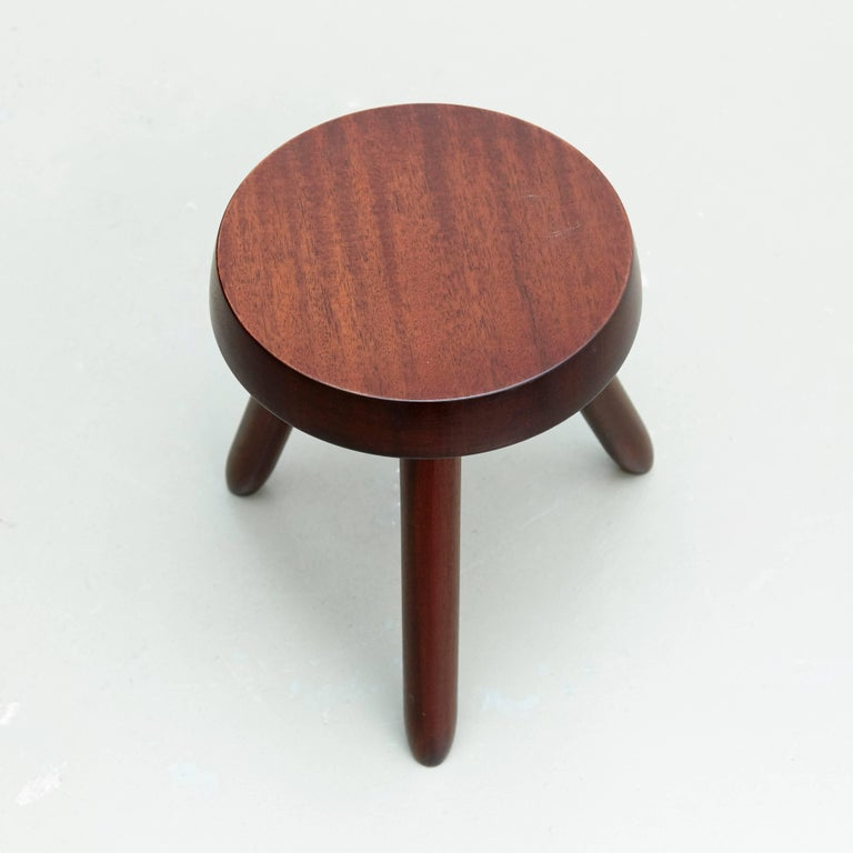 Late 20th Century Pair of Stools in the Style of Charlotte Perriand For Sale