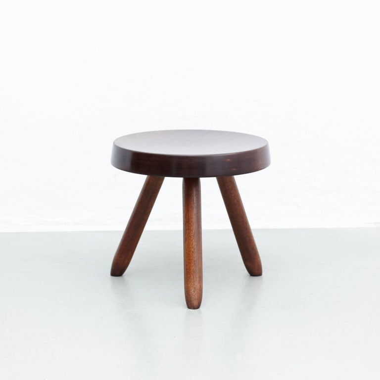 Pair of Stools in the Style of Charlotte Perriand For Sale 5