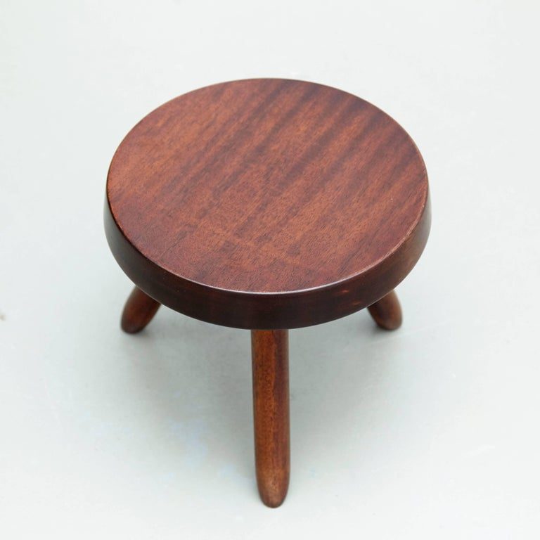 Pair of Stools in the Style of Charlotte Perriand For Sale 7