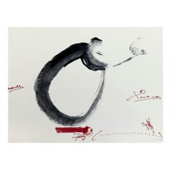 Antoni Tàpies Hand Signed Etching, Lletra O, 1976