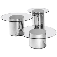 Set of Three 2001 Side Tables by Ramon Úbeda and Otto Canalda
