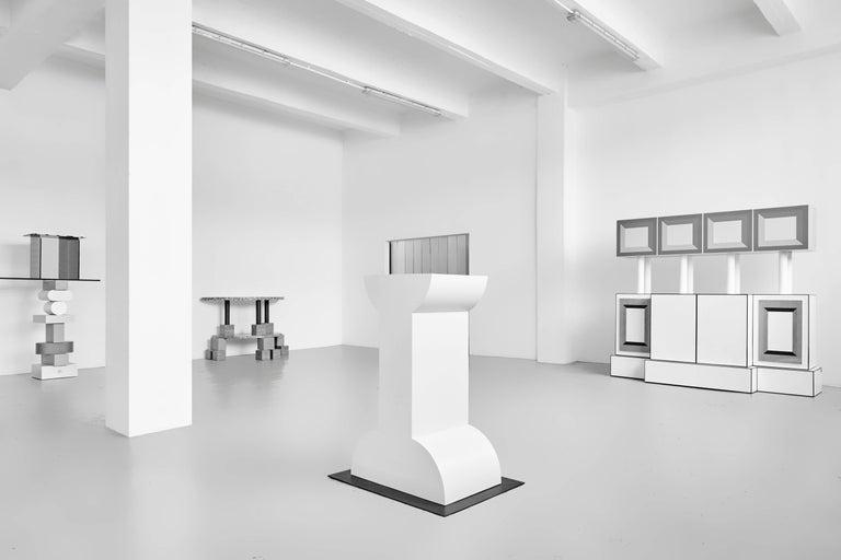 Ettore Sottsass, Memphis, Pink Ceramic Shiva Vase In Good Condition For Sale In Barcelona, Barcelona