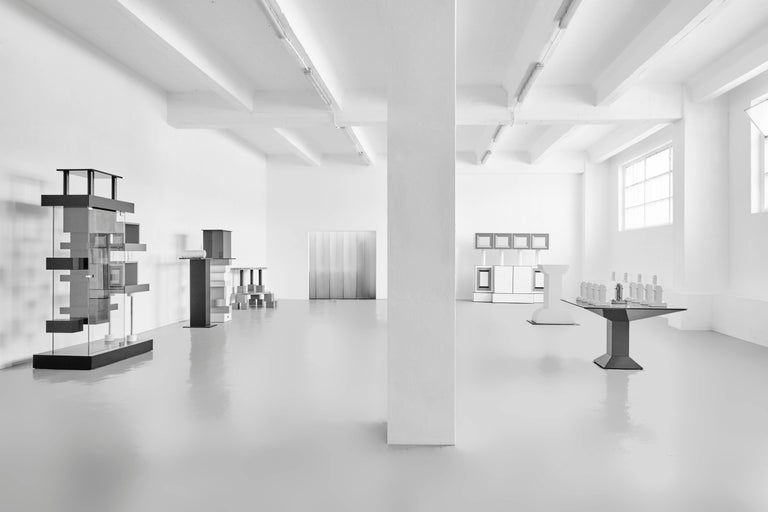 Ettore Sottsass, Memphis, Pink Ceramic Shiva Vase For Sale 1