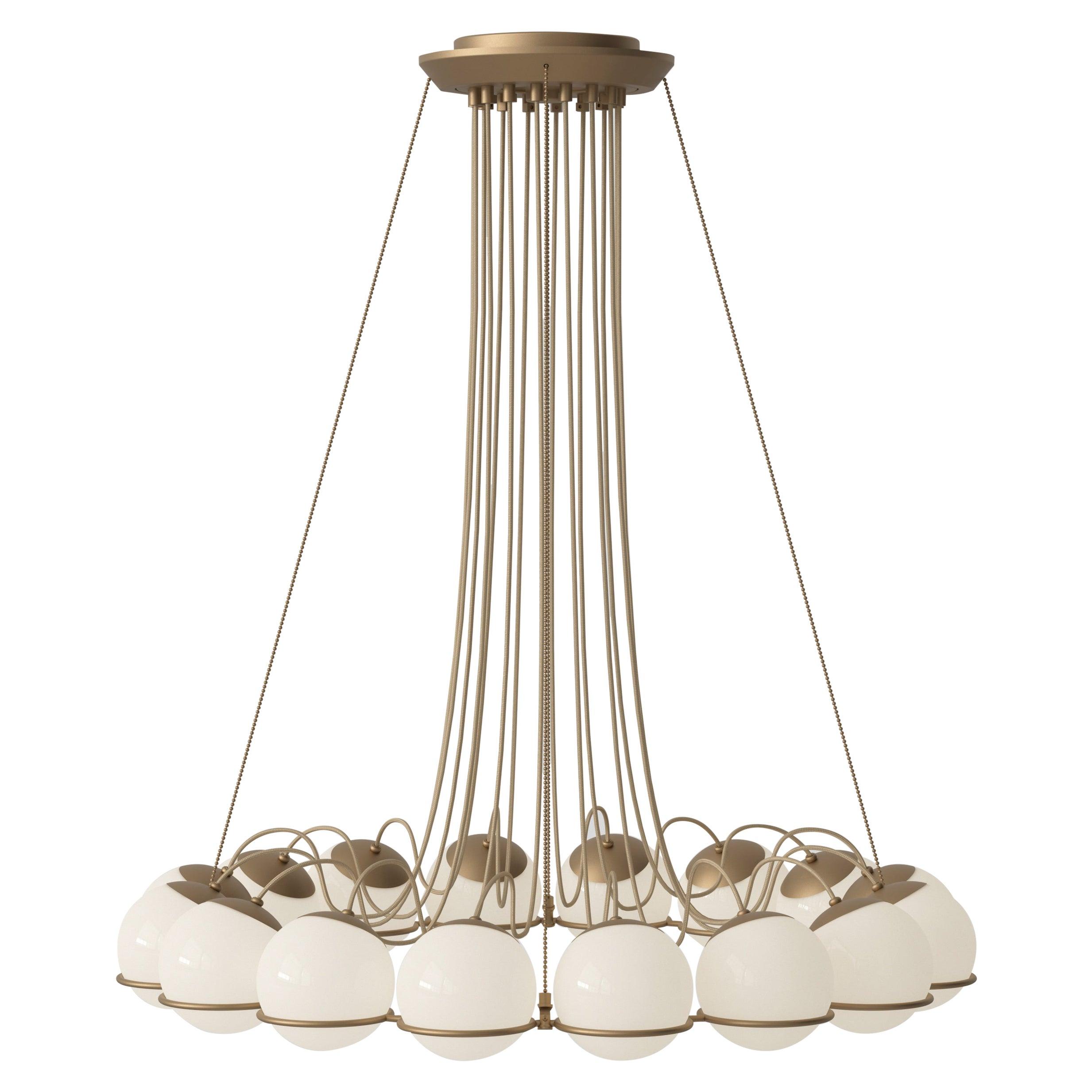 Gino Sarfatti Lamp Model 2109/16/14 Champagne Structure