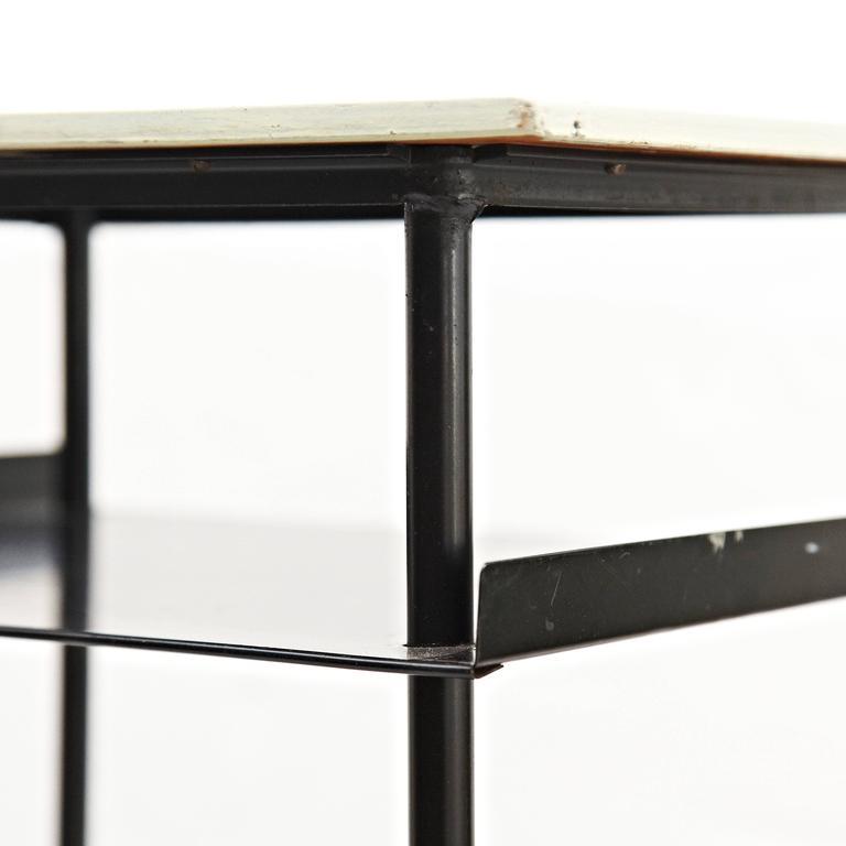 Metal  Wim Rietveld Coffee Table, circa 1950 For Sale