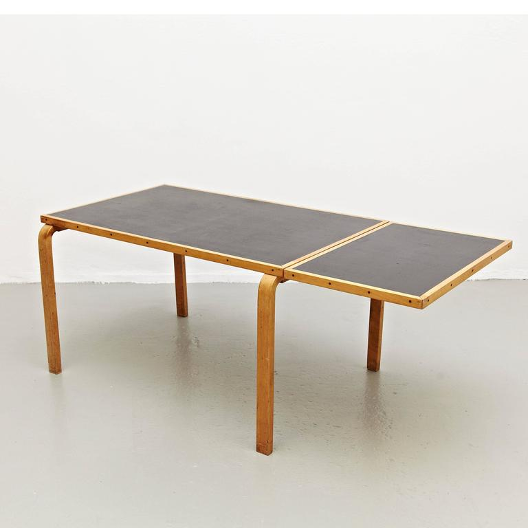 Beau Mid Century Modern Alvar Aalto Dining Table For Artek, Circa 1950 For Sale