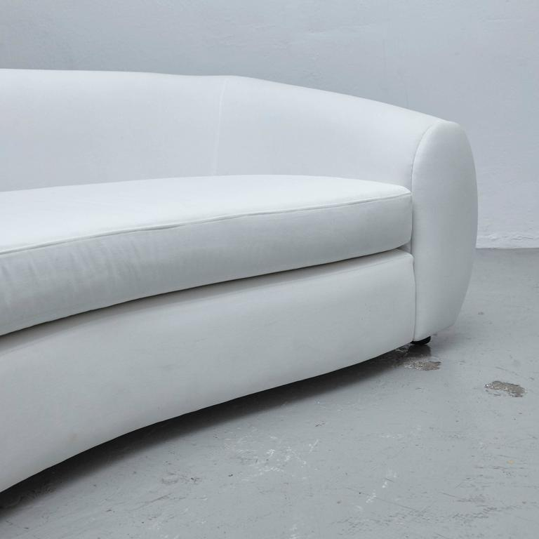 Large Sofa In The Style Of Jean Royere At 1stdibs
