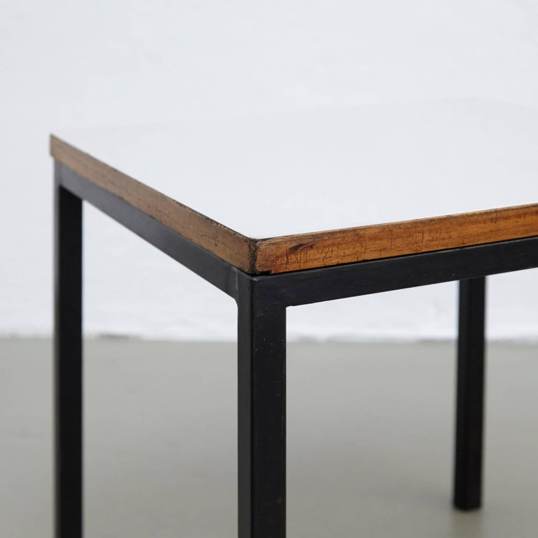 Pair of Florence Knoll T-Angle Side Tables, circa 1950 For Sale 2