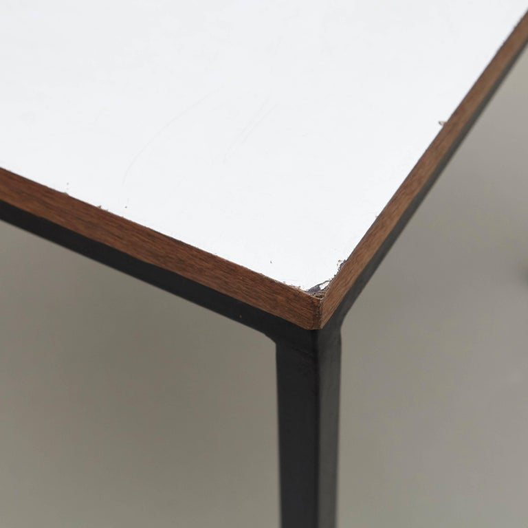American Pair of Florence Knoll T-Angle Side Tables, circa 1950 For Sale