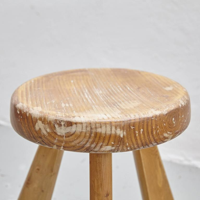 French Pair of Sandoz Stools by Charlotte Perriand, circa 1960 For Sale
