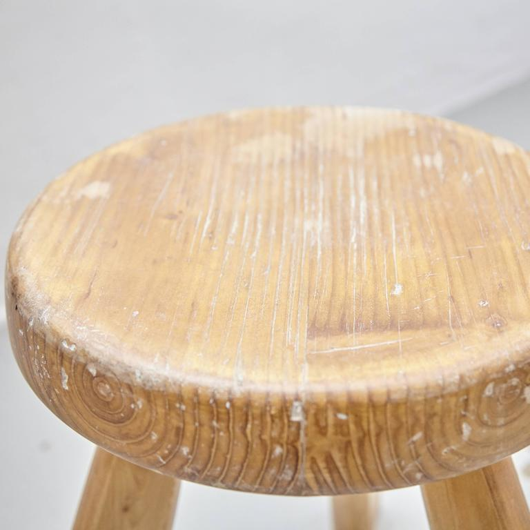 Pair of Sandoz Stools by Charlotte Perriand, circa 1960 In Good Condition For Sale In Barcelona, ES