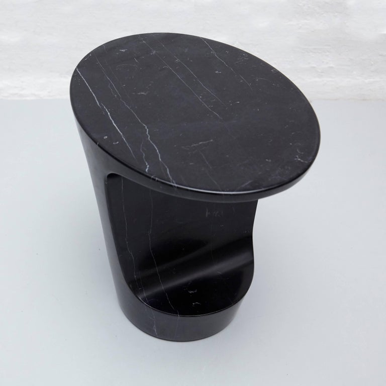 Contemporary Adolfo Abejon 'Atlas' Marble Side Table For Sale