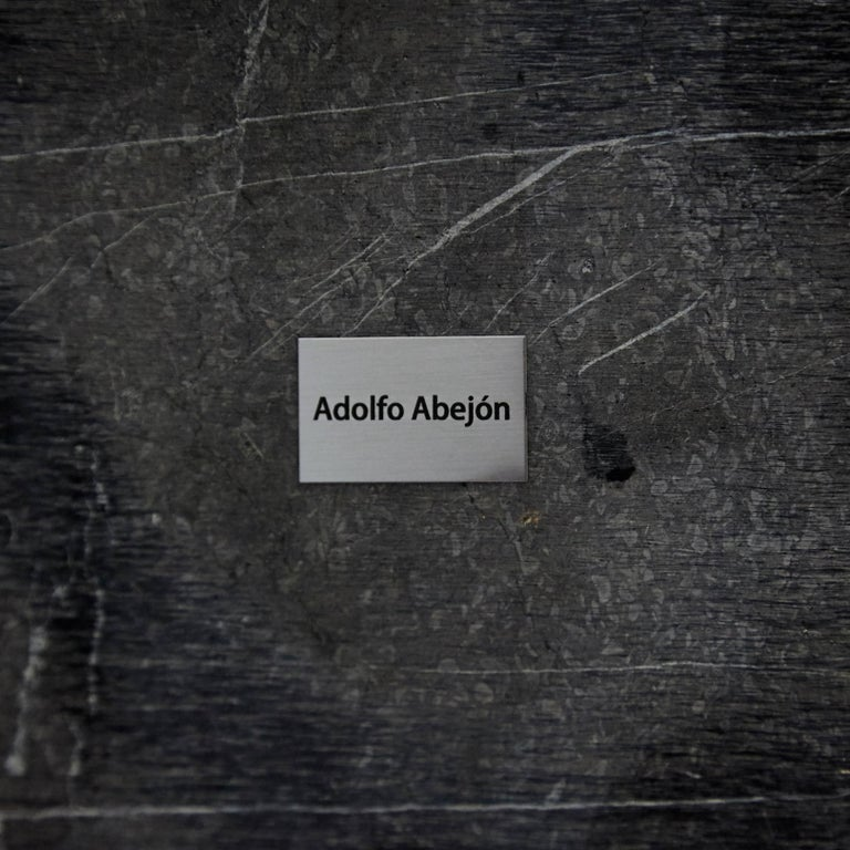 Adolfo Abejon 'Atlas' Marble Side Table For Sale 3