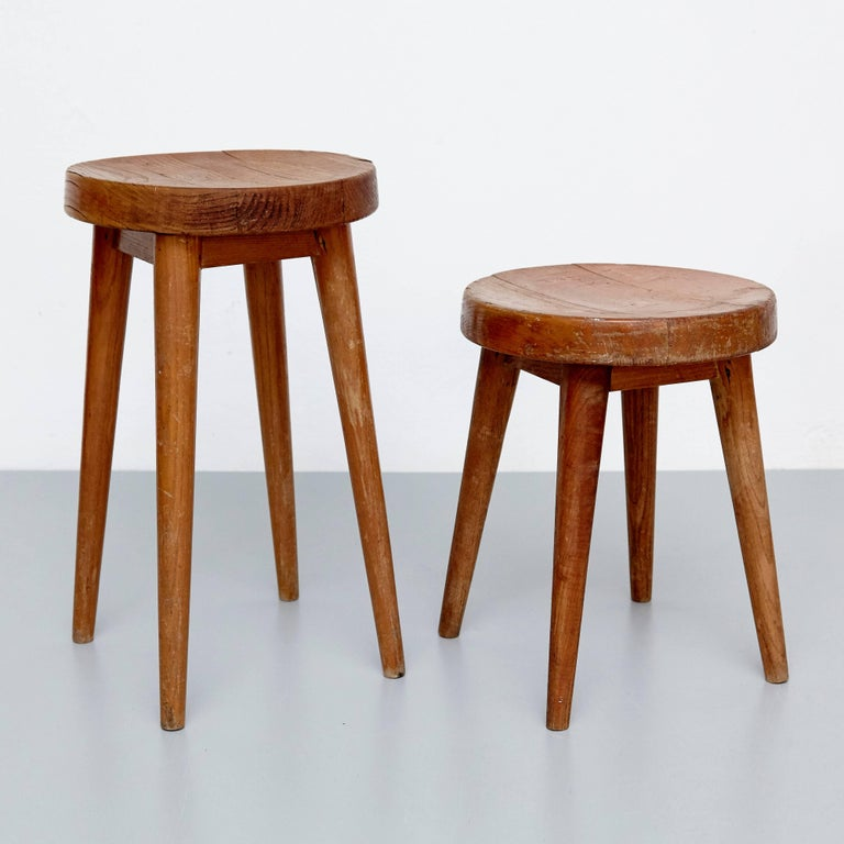 Pierre Jeanneret And Charlotte Perriand Stool For Sale At