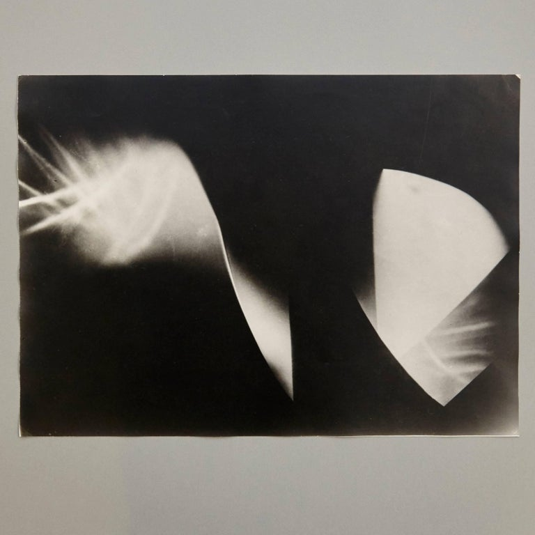 Photography by László Moholy-Nagy.  A posthumous print from the original negative, circa 1973 Stamped by Foto Moholy-Nagy and Galerie Khlim.  In good original condition.  László Moholy-Nagy (1895-1946) was a Hungarian painter and photographer