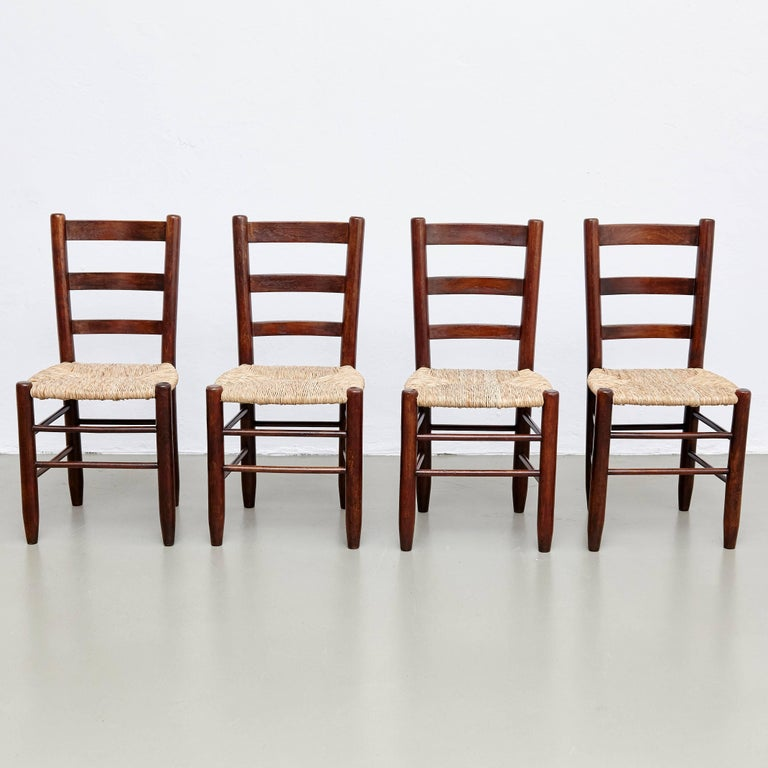 Set Of Four Charlotte Perriand N 19 Chairs For Sale At 1stdibs