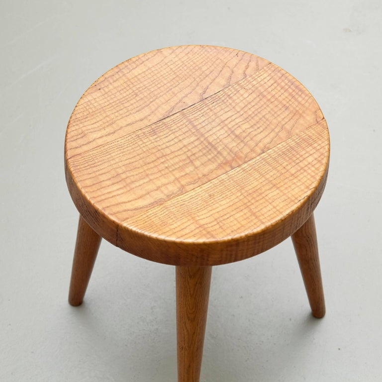 Pair of Pierre Jeanneret & Charlotte Perriand Stools For Sale 1
