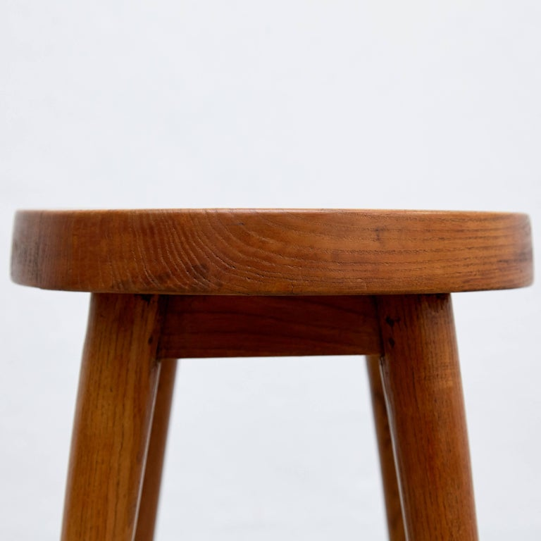 Mid-20th Century Pair of Pierre Jeanneret & Charlotte Perriand Stools For Sale