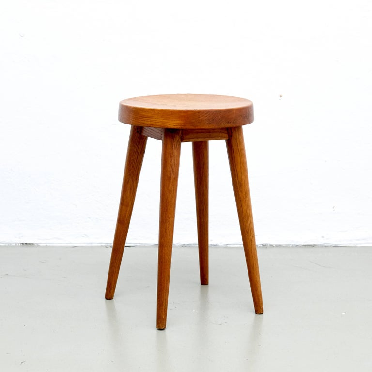 Pair of stools designed by Charlotte Perriand & Pierre Jeanneret from the hotel
